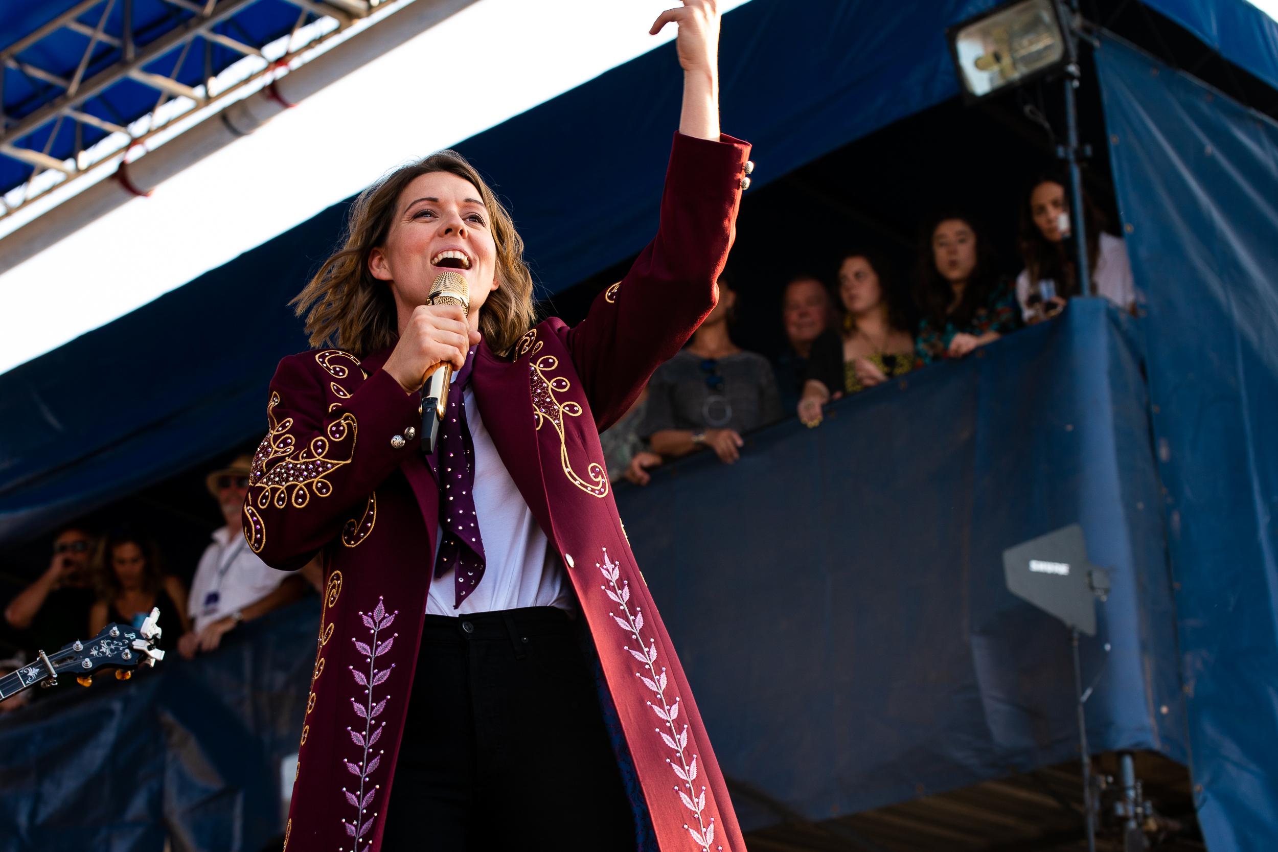 Brandi Carlile at Newport Folk Festival (Photo by Mauricio Castro)