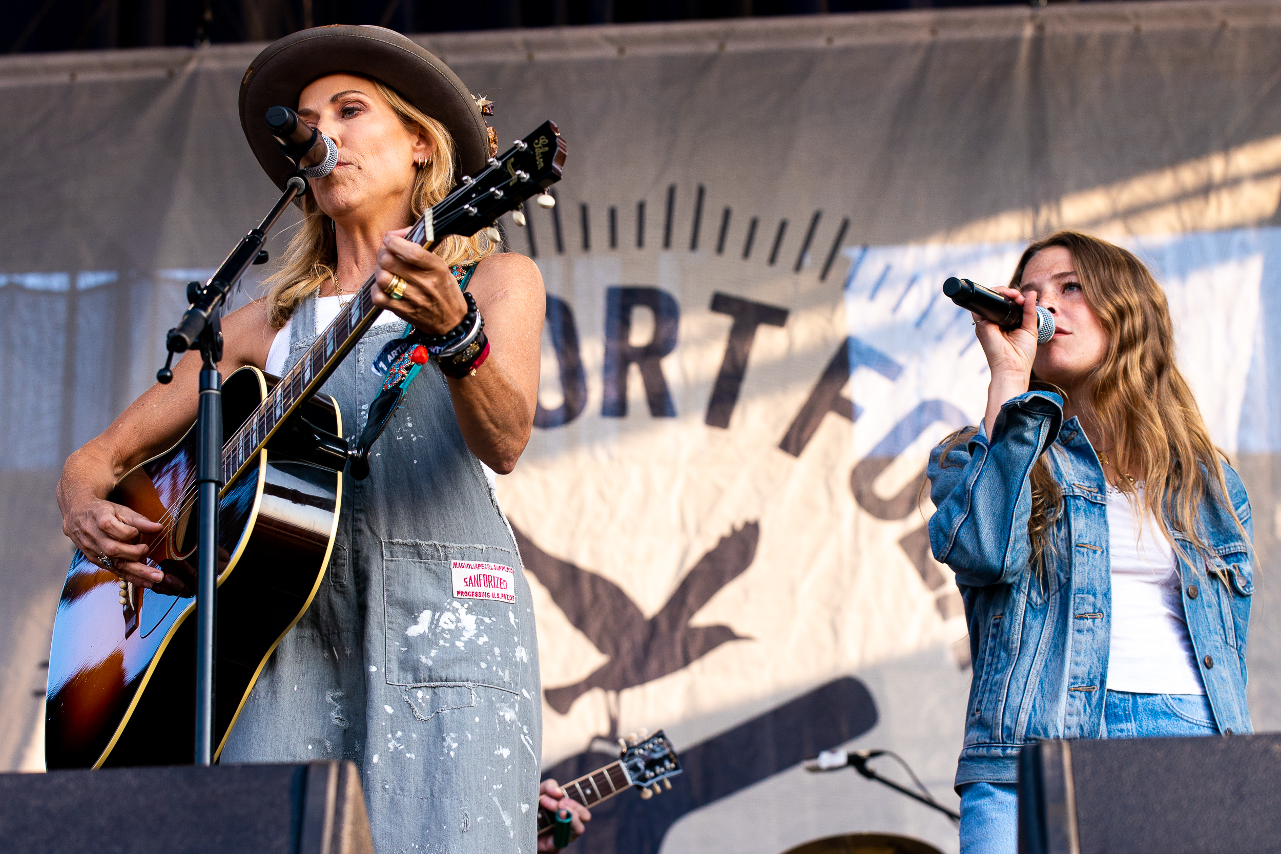 Sheryl Crow and Maggie Rogers at Newport Folk Festival (Photo by Mauricio Castro)