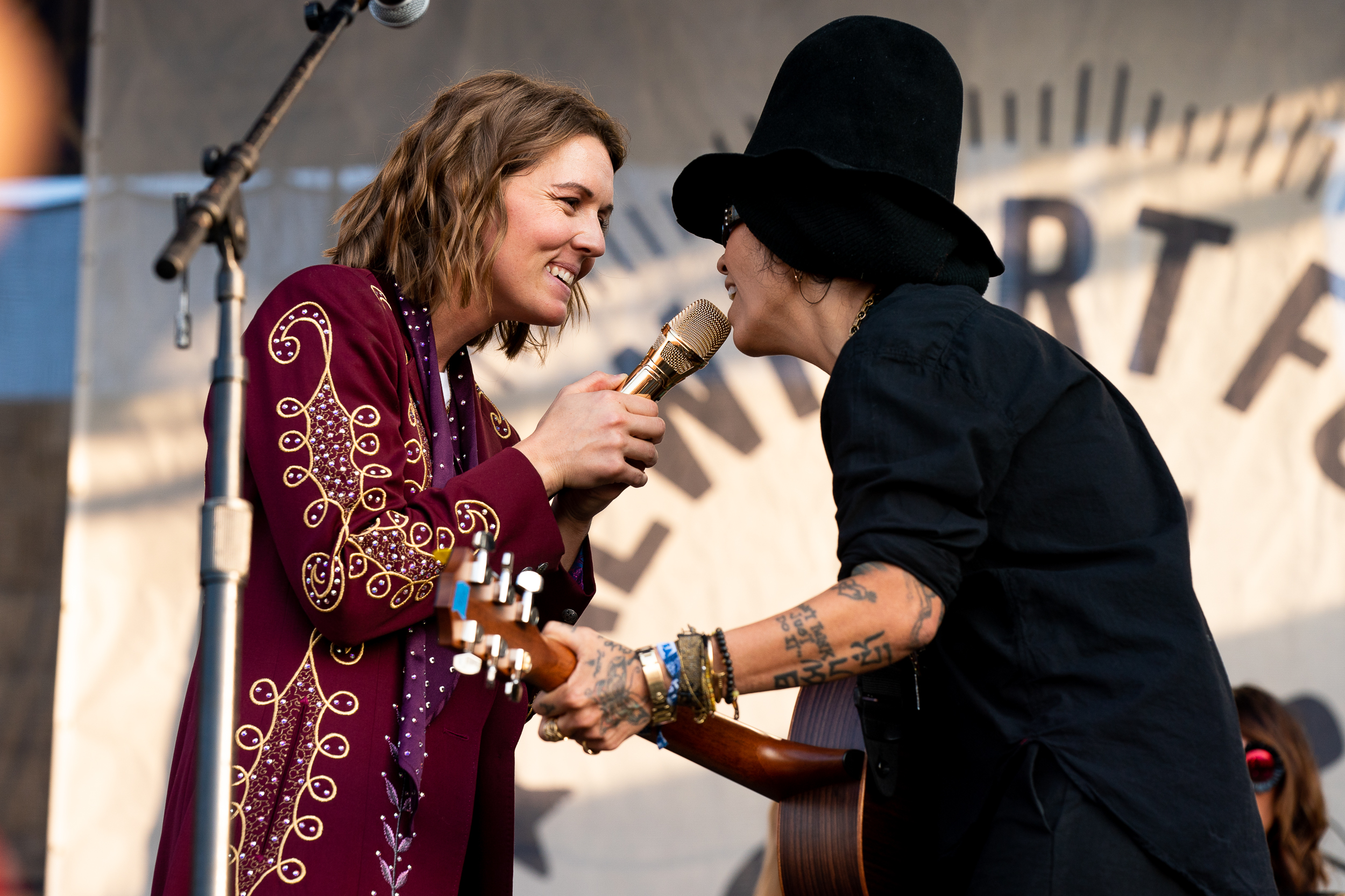 Brandi Carlile and Linda Perry at Newport Folk Festival (Photo by Mauricio Castro)