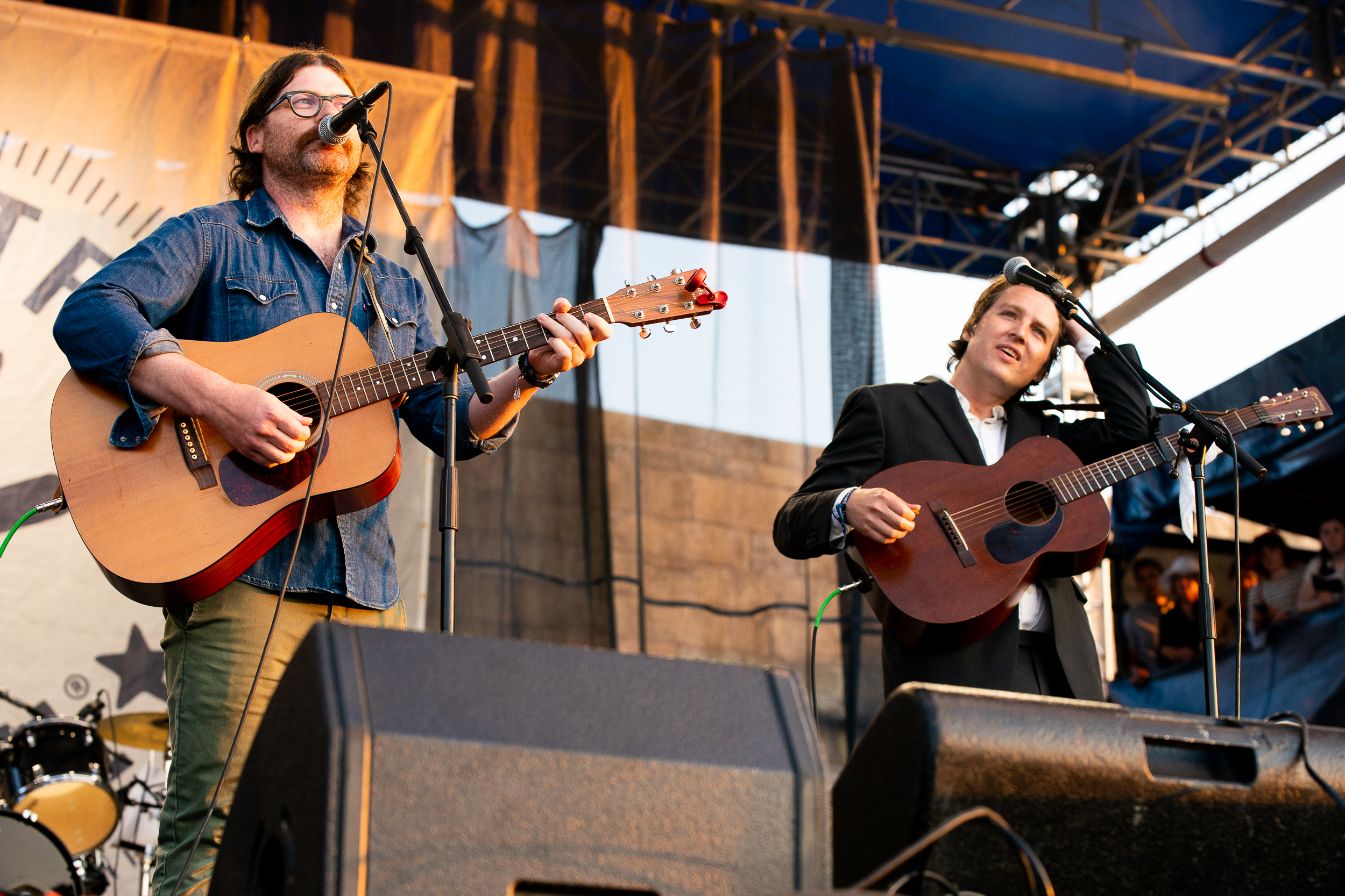 Colin Meloy and The Milk Carton Kids at Newport Folk Festival (Photo by Mauricio Castro)