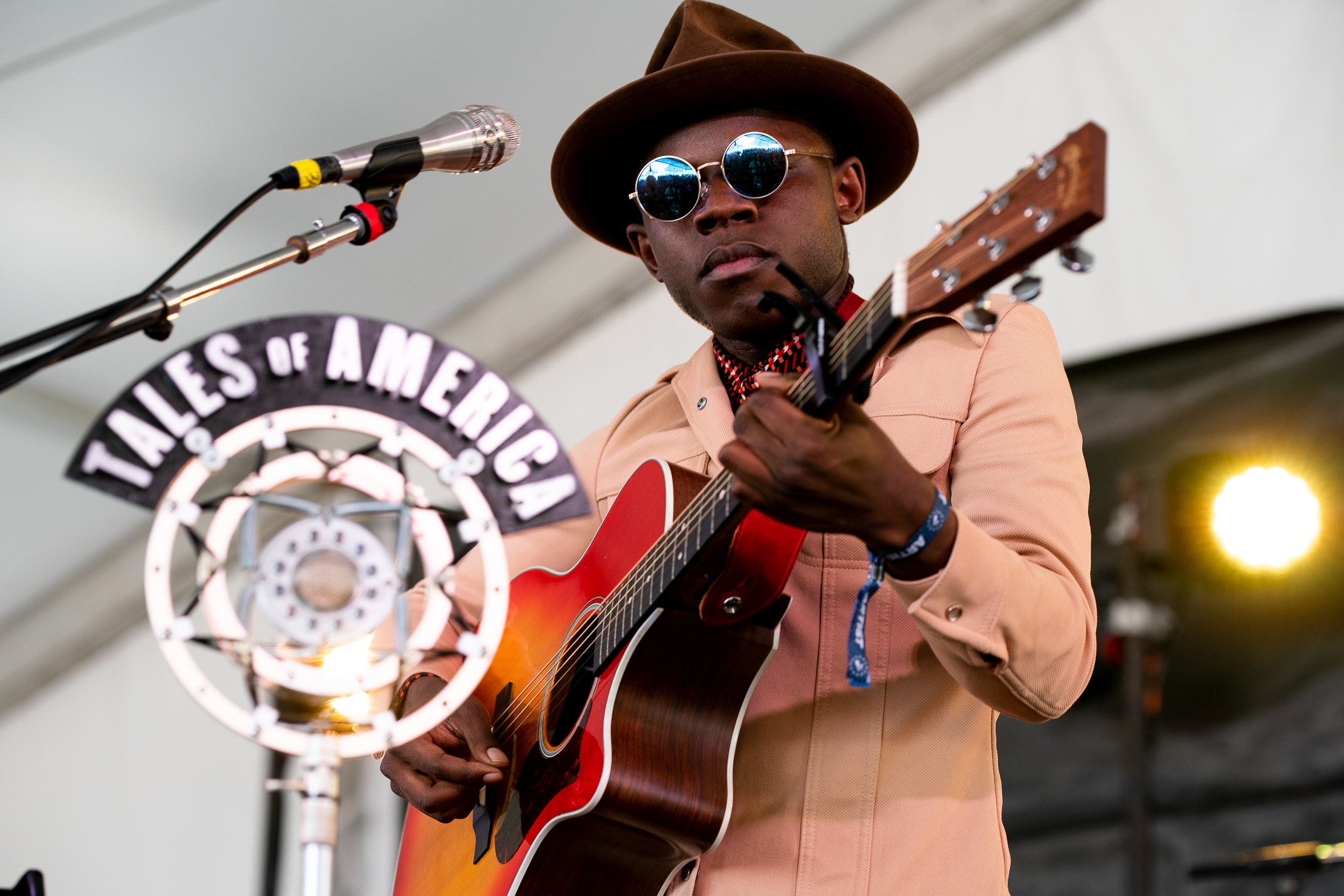 J.S. Ondara at Newport Folk Festival (Photo by Mauricio Castro)