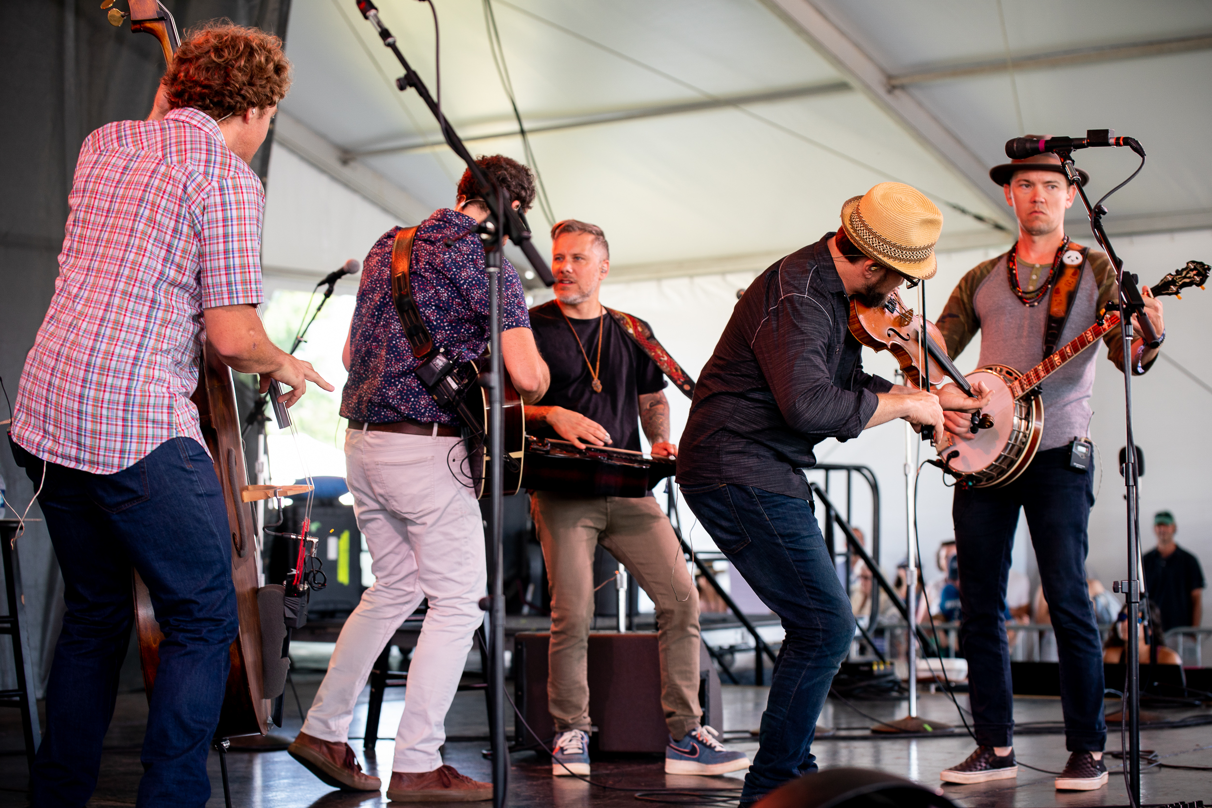The Infamous Stringdusters at Newport Folk Festival (Photo by Mauricio Castro)