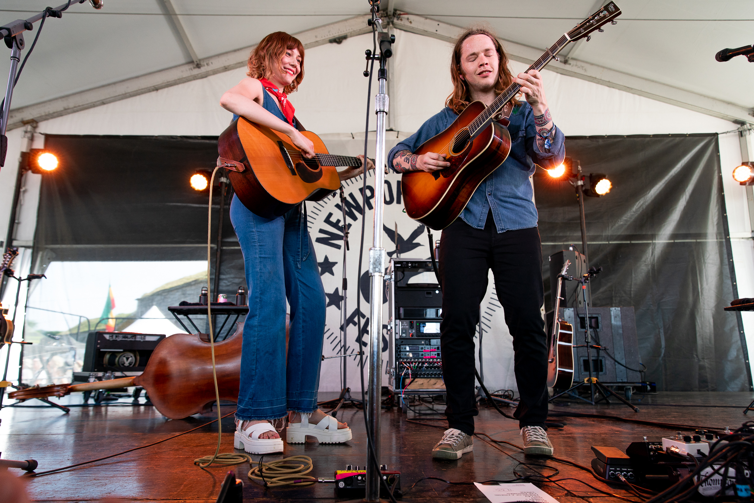 Molly Tuttle and Billy Strings at Newport Folk Festival (Photo by Mauricio Castro)