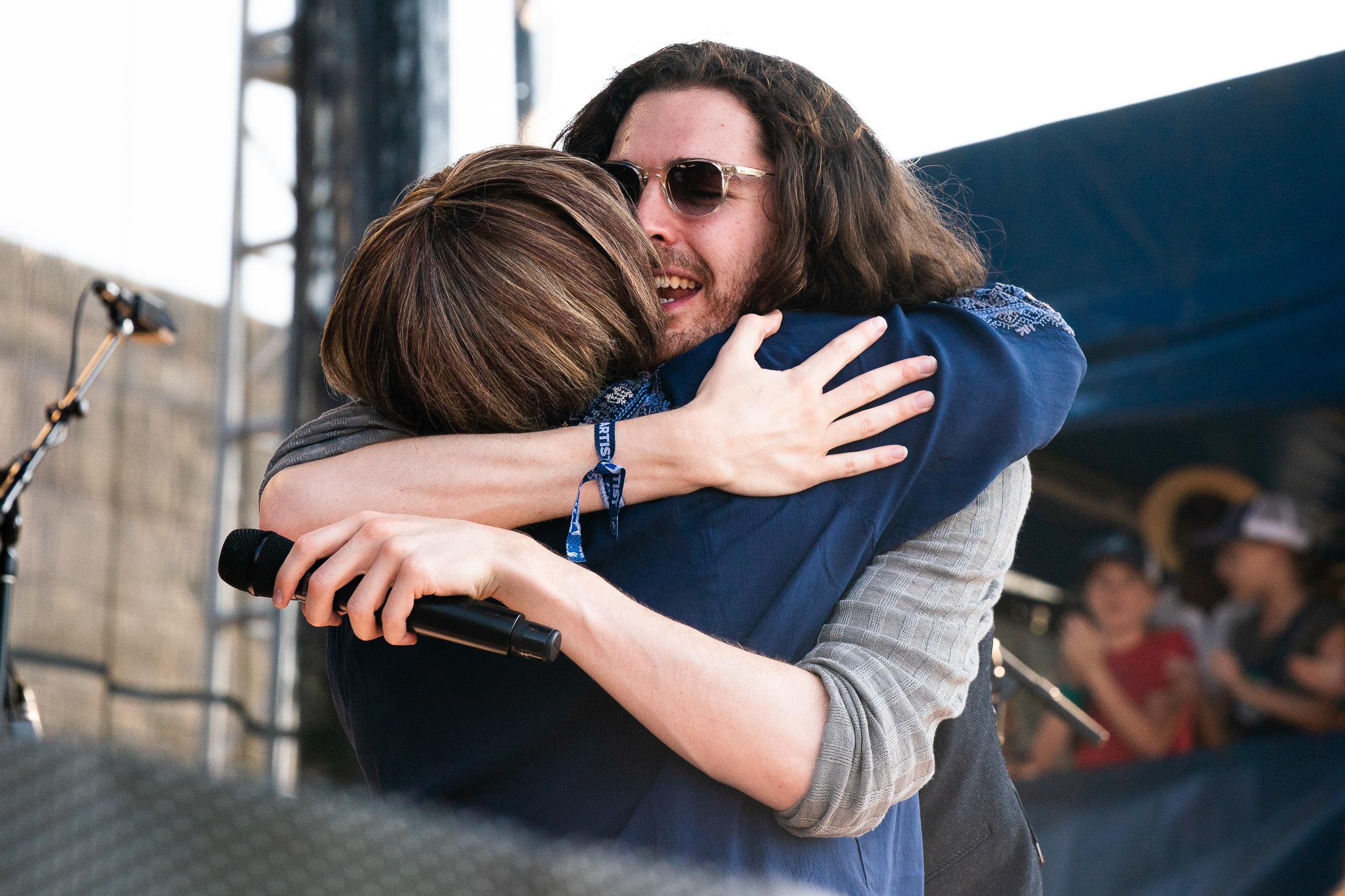 Mavis Staples and Hozier at Newport Folk Festival (Photo by Mauricio Castro)