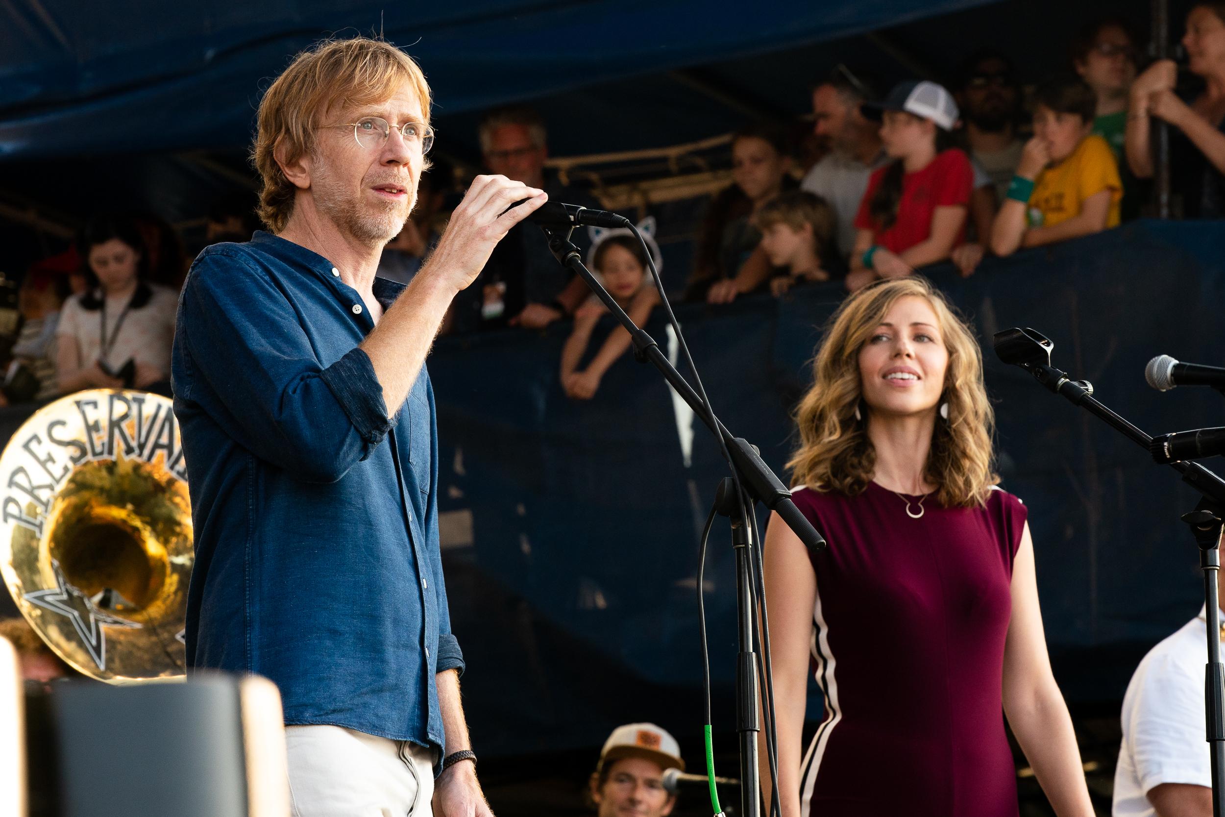 Trey Anastasio and Rachel Price at Newport Folk Festival (Photo by Mauricio Castro)