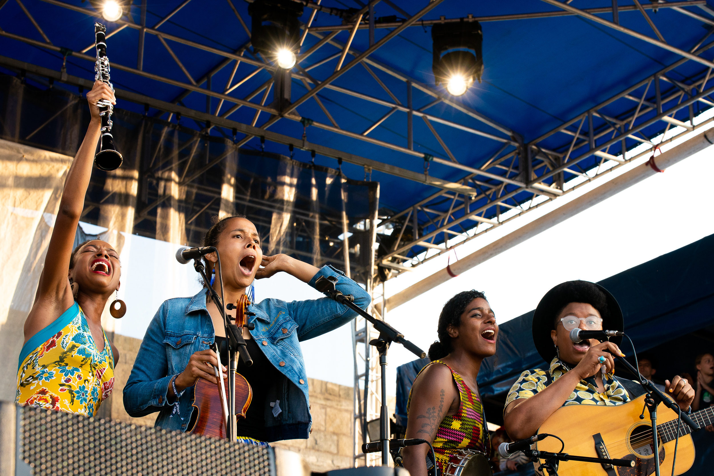 Our Native Daughters at Newport Folk Festival (Photo by Mauricio Castro)