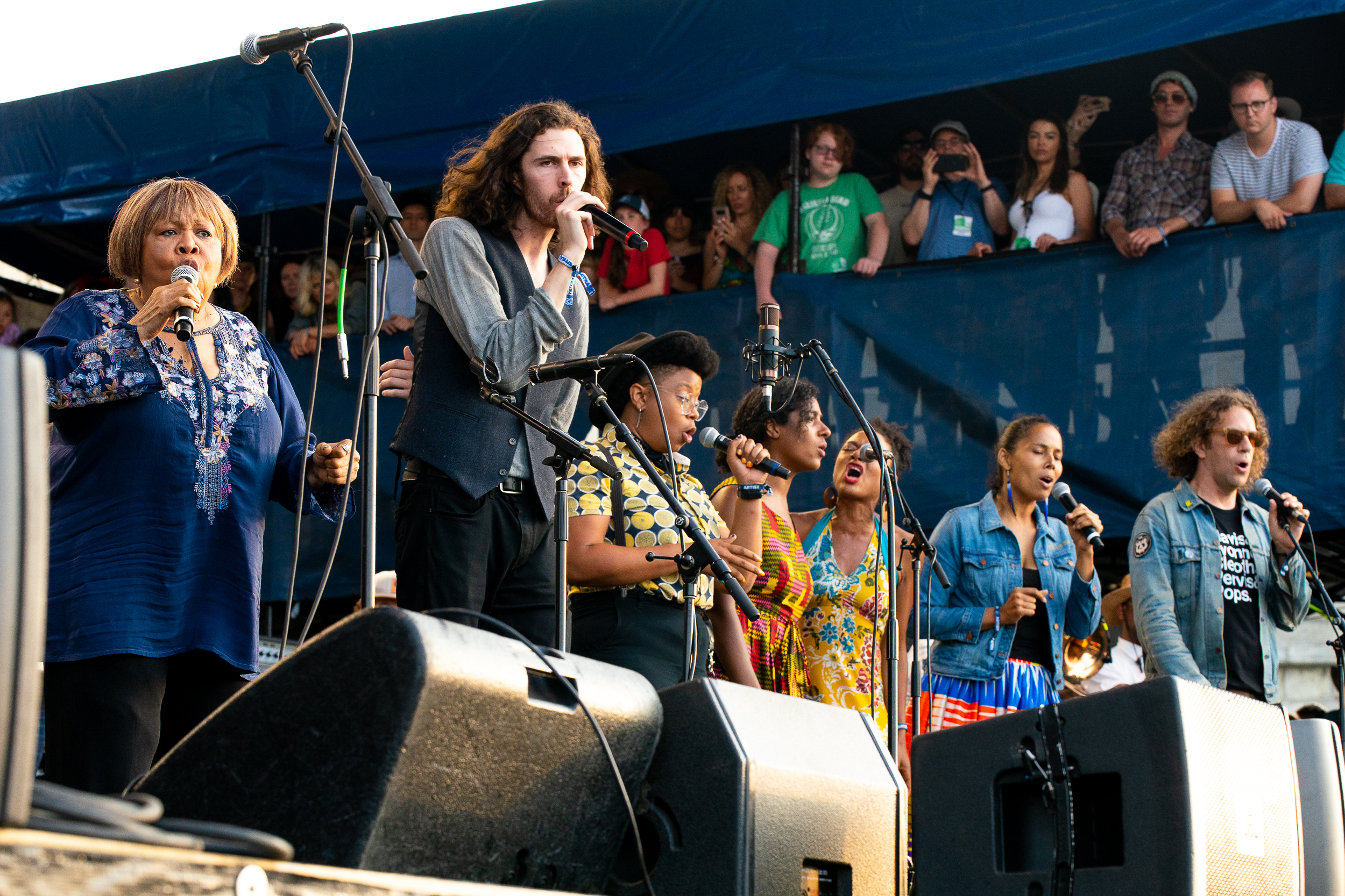 Mavis Staples, Hozier, Our Native Daughters, and Phil Cook at Newport Folk Festival (Photo by Mauricio Castro)