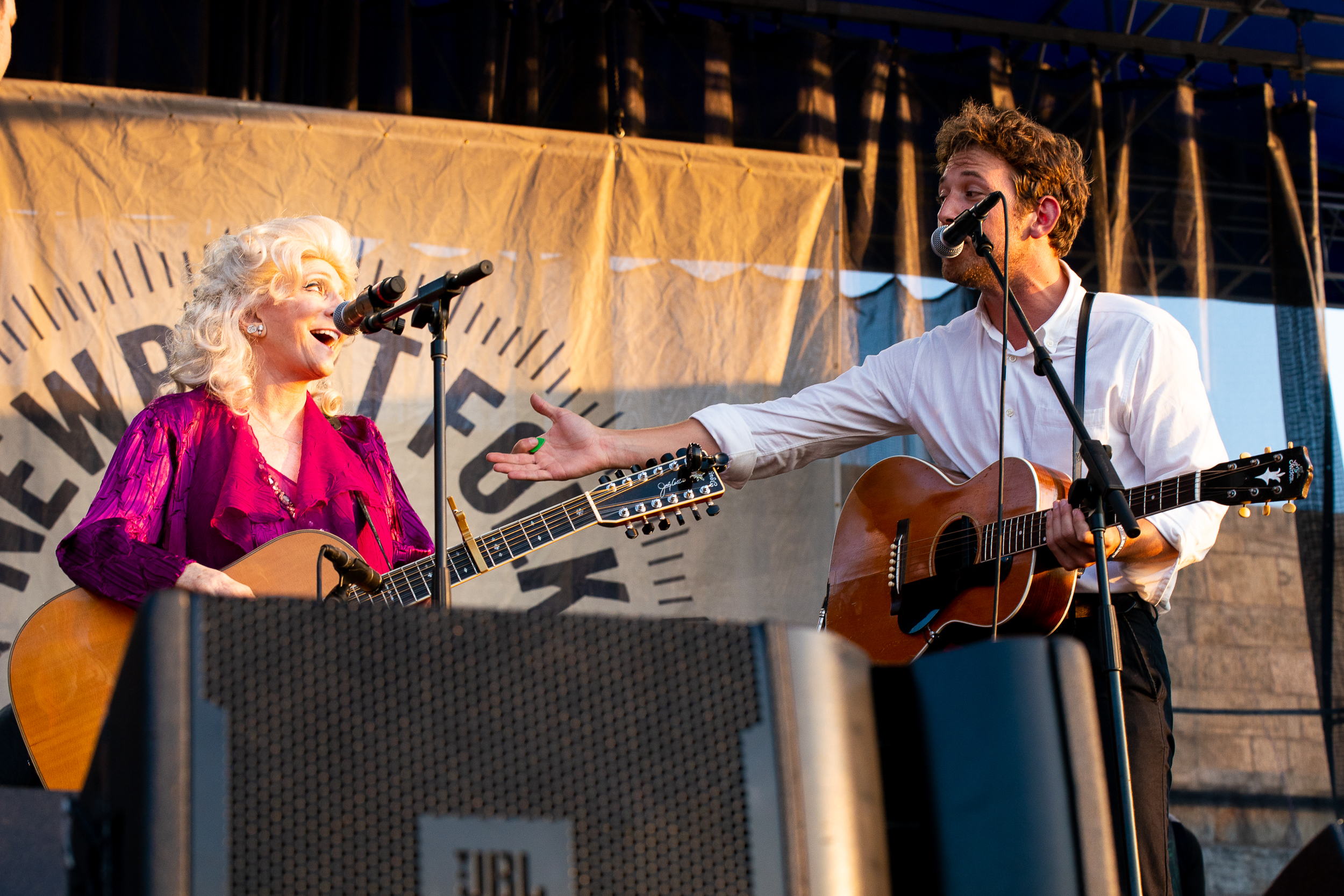 Judy Collins and Robin Pecknold at Newport Folk Festival (Photo by Mauricio Castro)