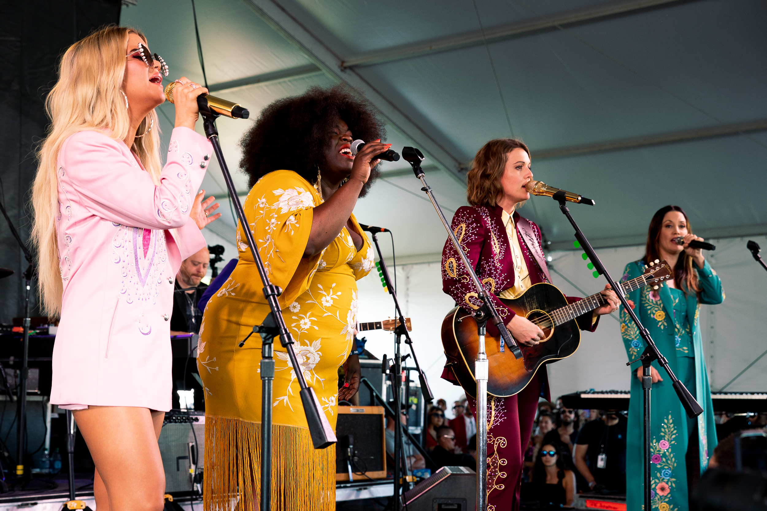 The Highwomen and Yola at Newport Folk Festival (Photo by Mauricio Castro)