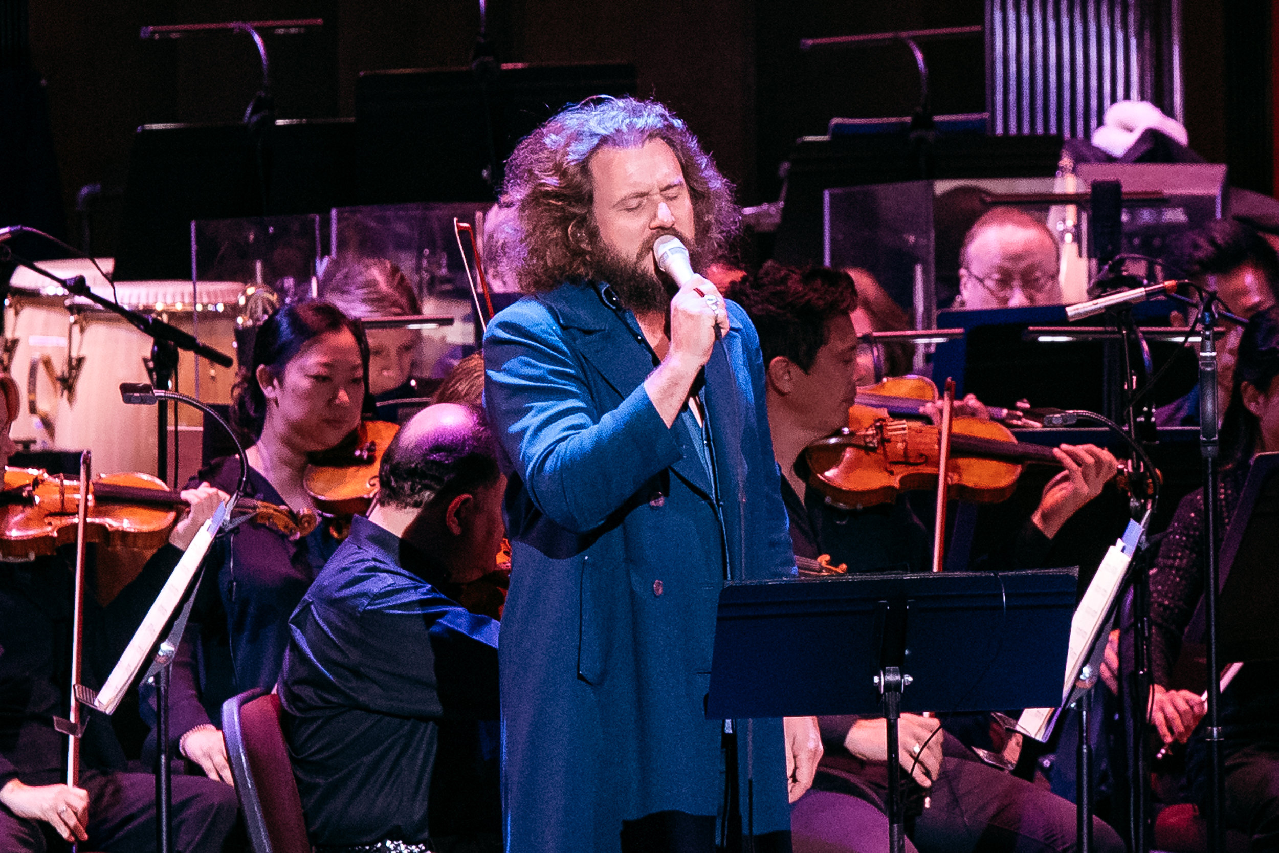 Jim James and the National Symphony Orchestra at The Kennedy Center (Photo by Mauricio Castro)