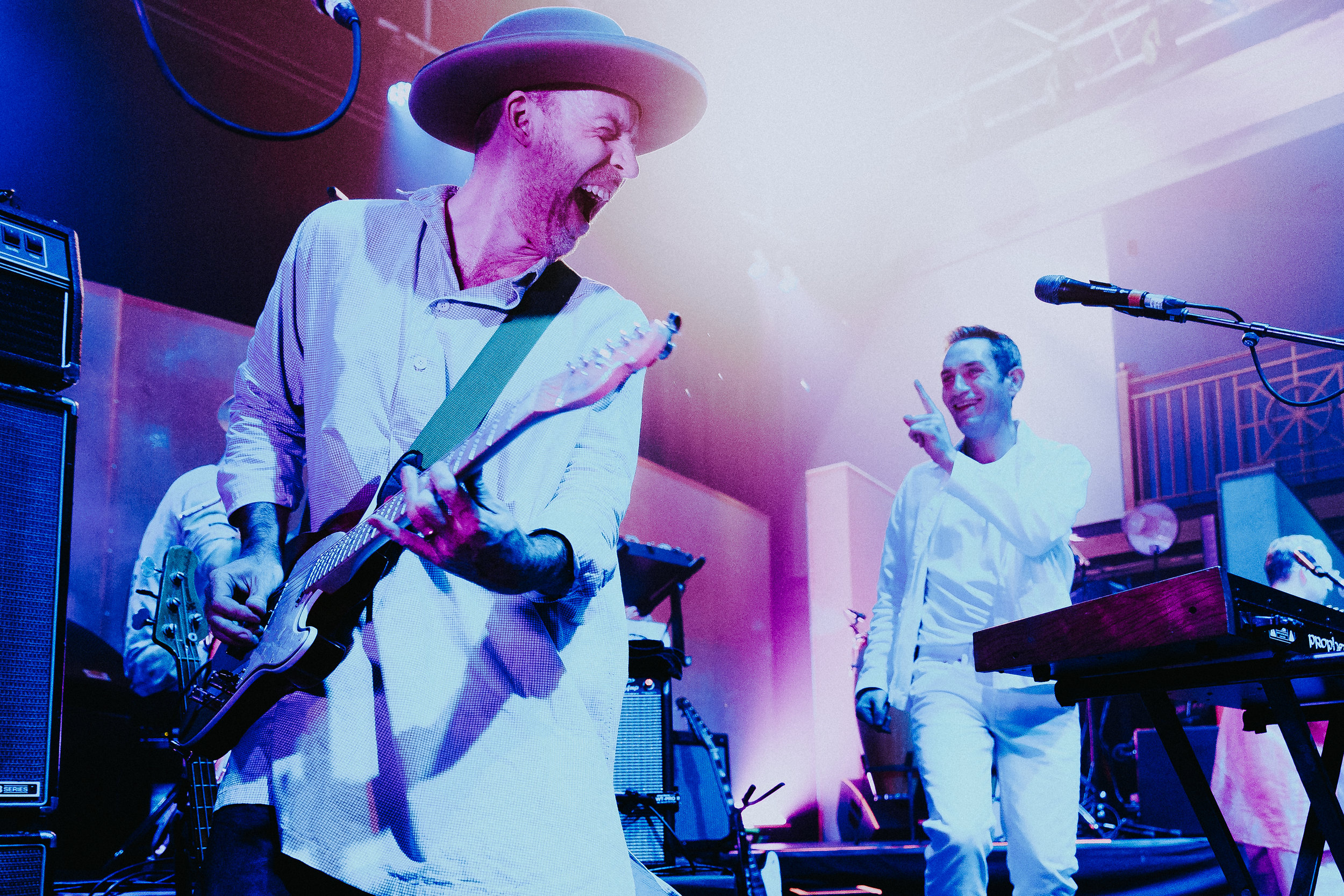 Al Doyle and Owen Clarke of Hot Chip at 9:30 Club (Photo by Mauricio Castro)