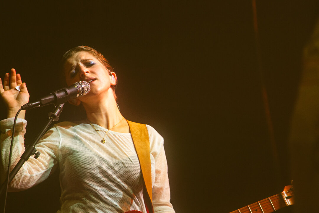 Overcoats at 9:30 Club (Photo by Carolina Correa-Caro)