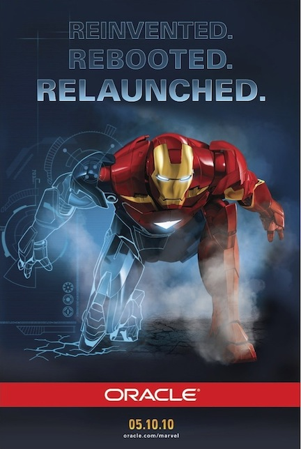 Oracle Marvel 'Iron Man 2' Partner Poster