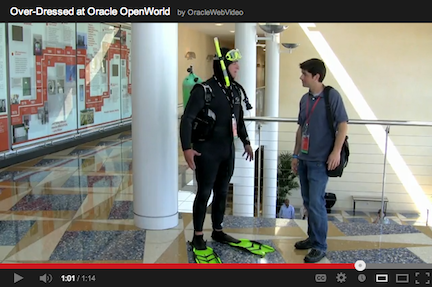 Over-dressed at Oracle OpenWorld