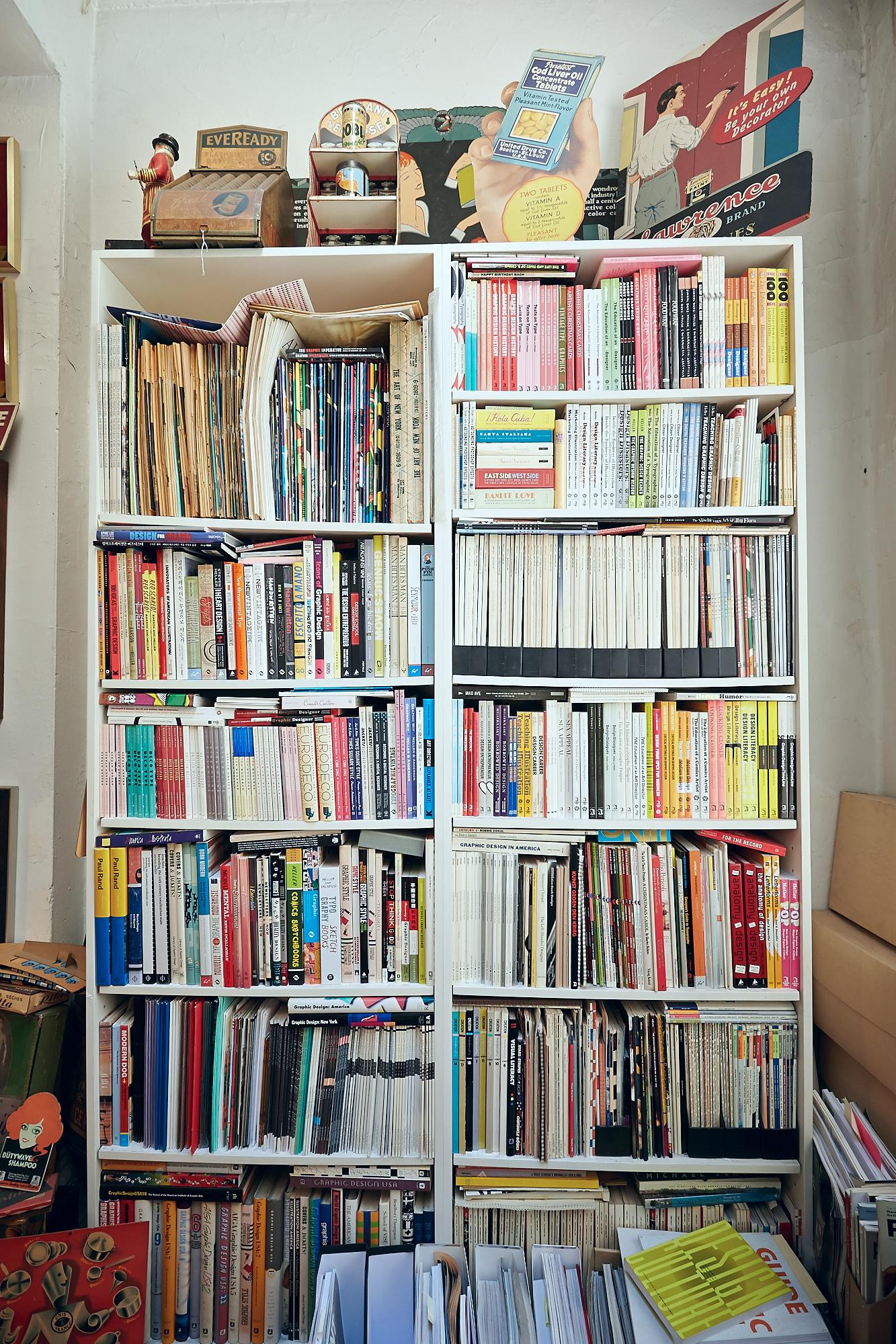 Steve has authored or co-authored all the books on these shelves. This man does not waste time.(Click on photo to enlarge)