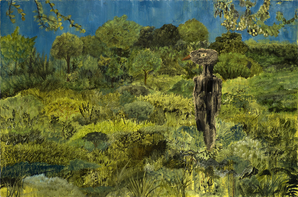 "Man Cannot Destroy Nature, Nature Is Too Mean , oil on linen, 24""x36"", 2010"