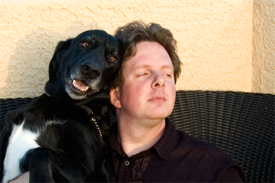 My best friend, Max, and I. He stood by my side for the entire development cycle. He'll be in my heart forever!