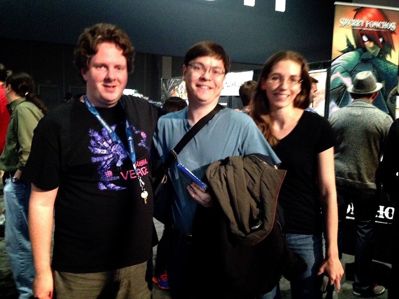 Here I am with Dead Dodrill (creator of Dust:  An Elysian Tail) and his wife.