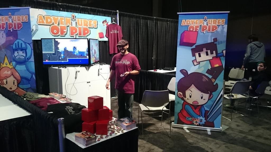 Shareef of TicToc games getting ready to show Adventures of Pip!