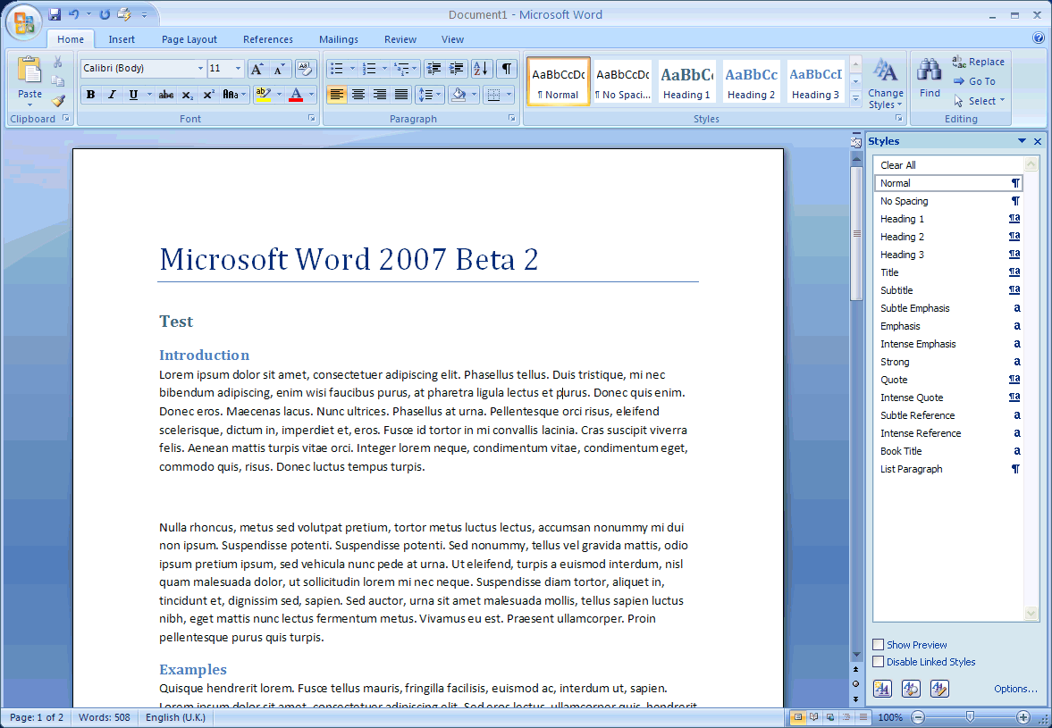 Microsoft Word 2007. Intense Reference.