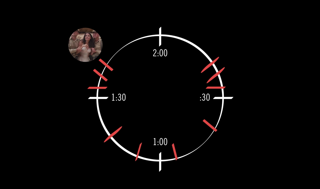 Writer-director Seth Worley visualizes his film's structure as a clock face.
