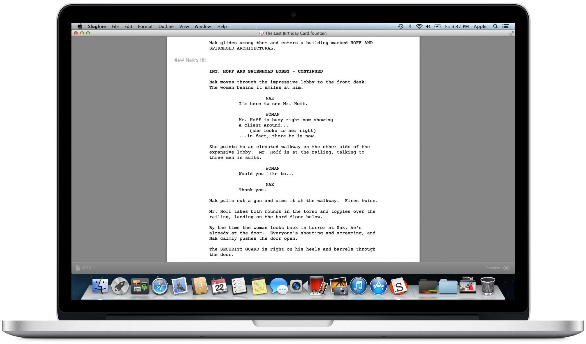 Main 2 — Slugline  Simply Screenwriting