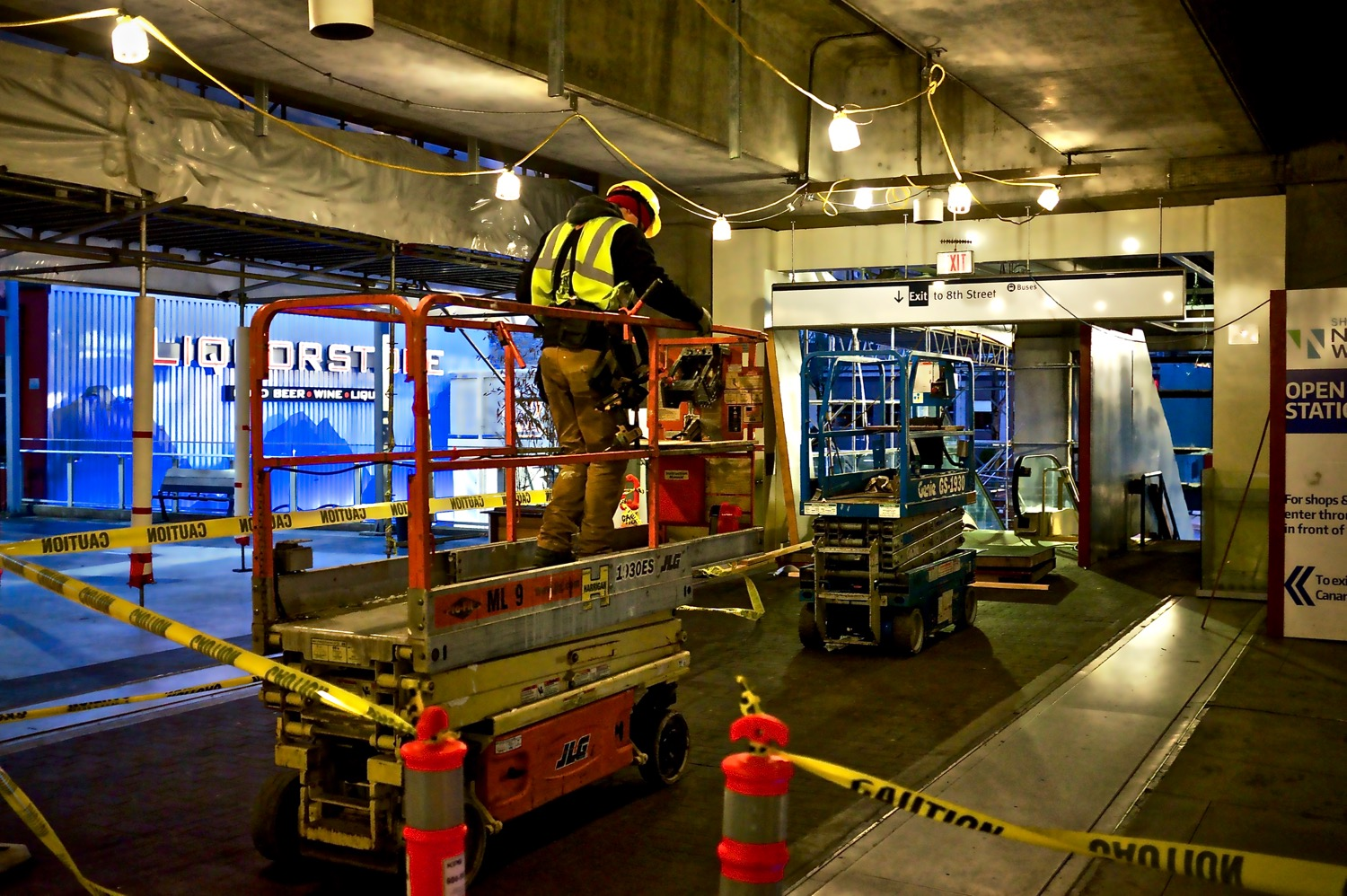 Renovations at New Westminster SkyTrain Station  Click image to enlarge.