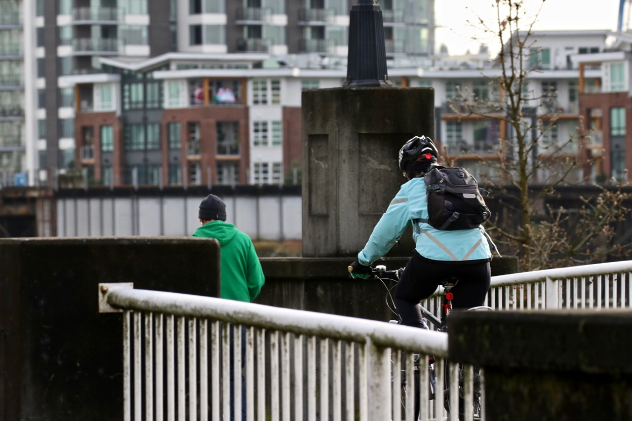 Walking and cycling at New Westminster Quay