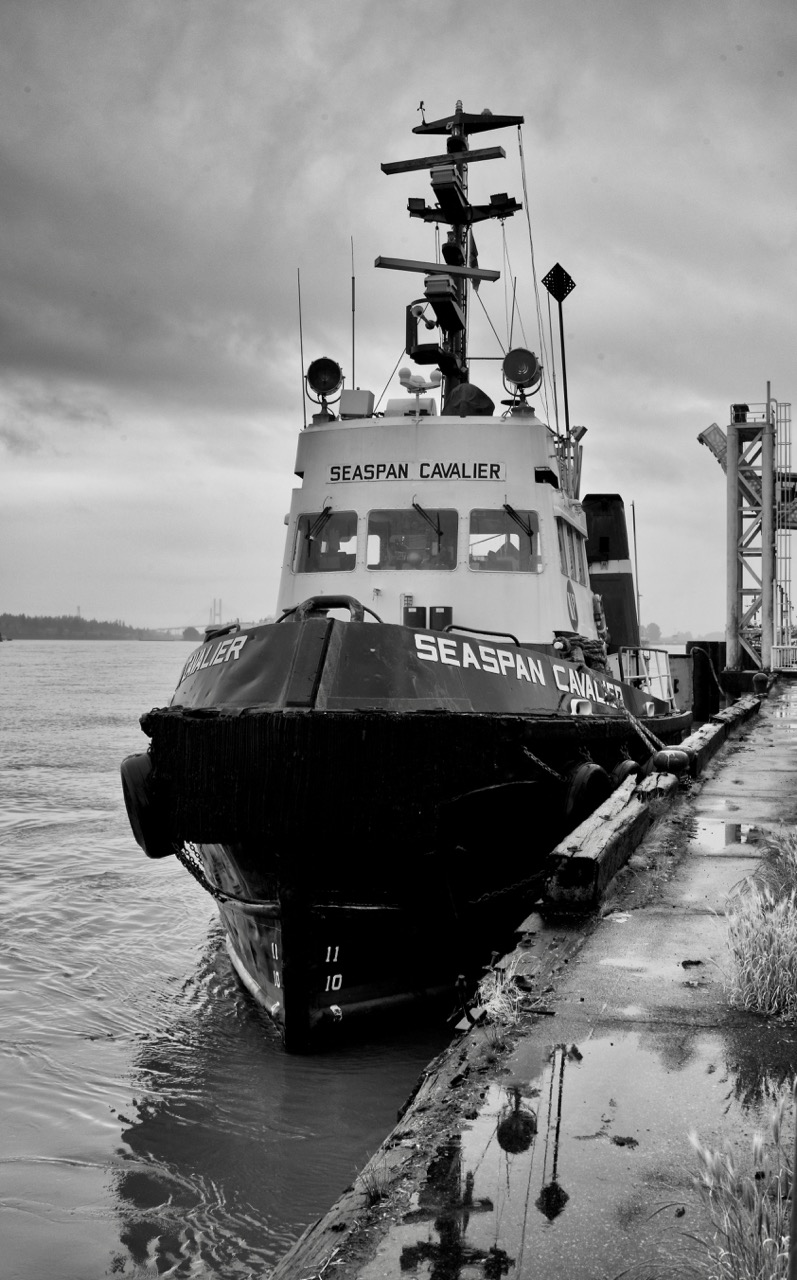 "Tugboat ""SEASPAN CAVALIER"" in Fraser River, New Westminster, B.C."