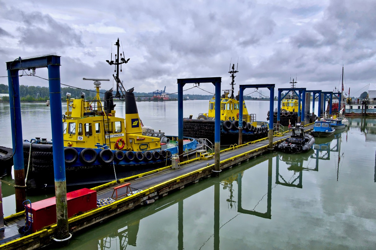 SAAM SMIT tugboats Chinook, Pride and Spirit at New Westminster Quay.