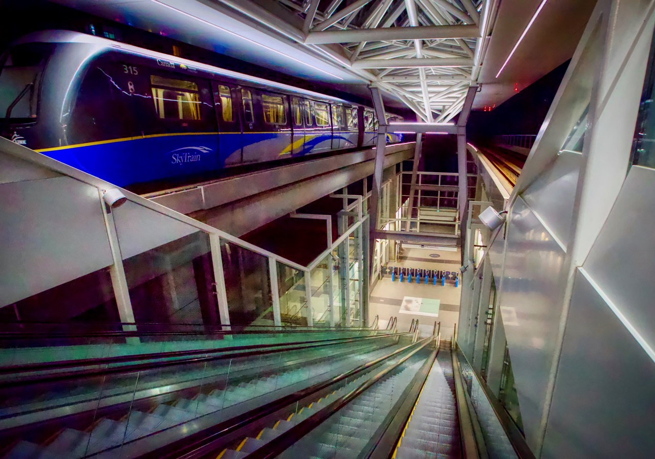 SkyTrain at Metrotown Station, Burnaby B.C.