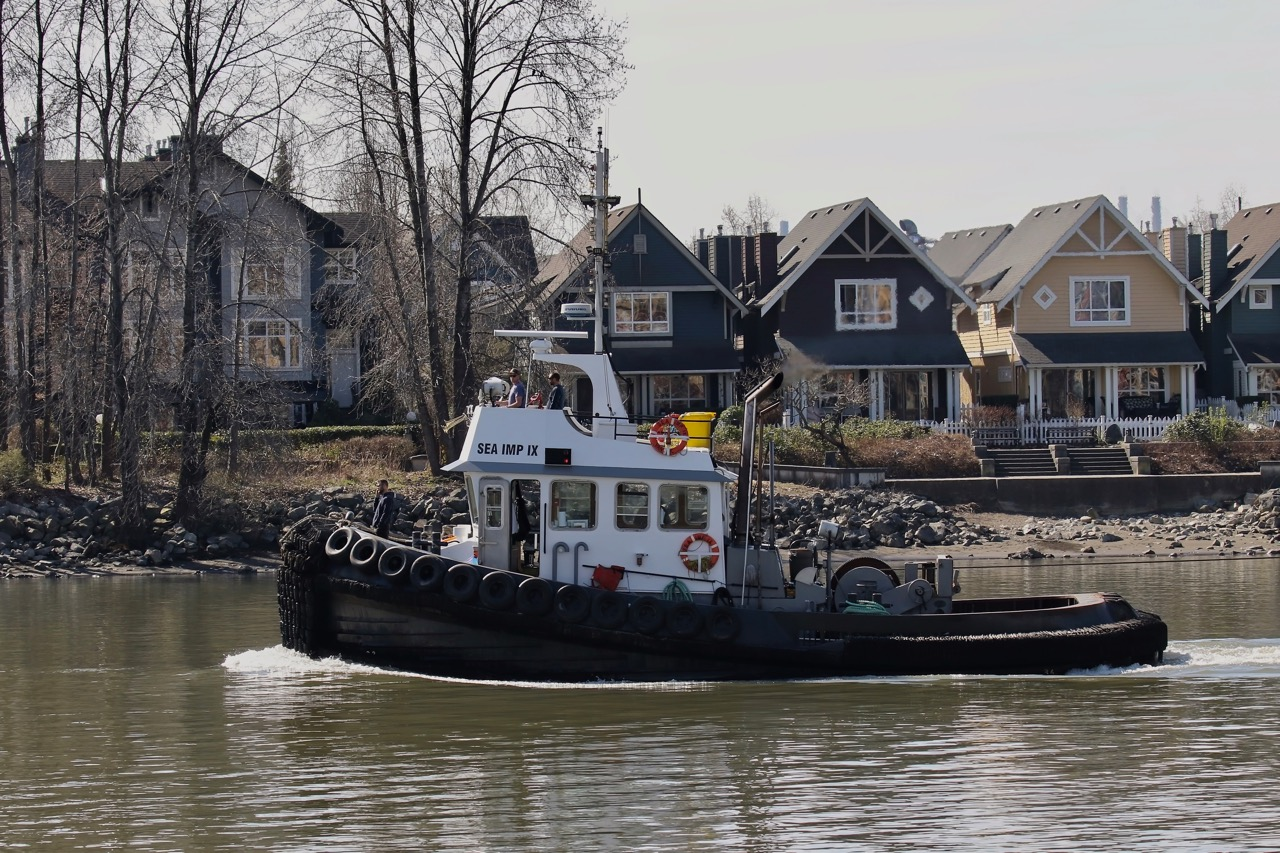 """Catherwood Towing tugboat """"SEA IMP IX"""" in North Arm, Fraser River"""