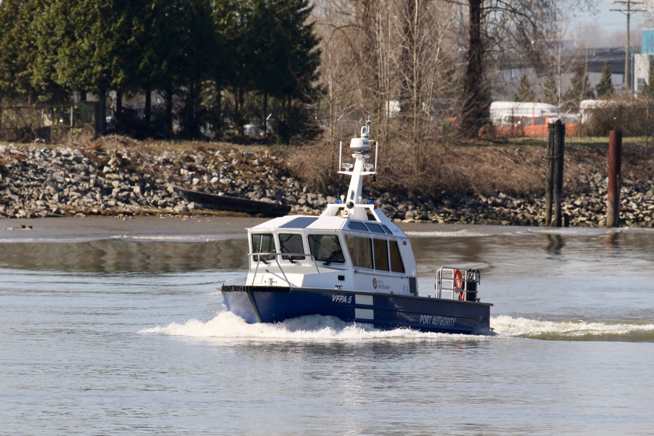 Vancouver Fraser Port Authority (VFPA) Patrol Boat 5 in Fraser River