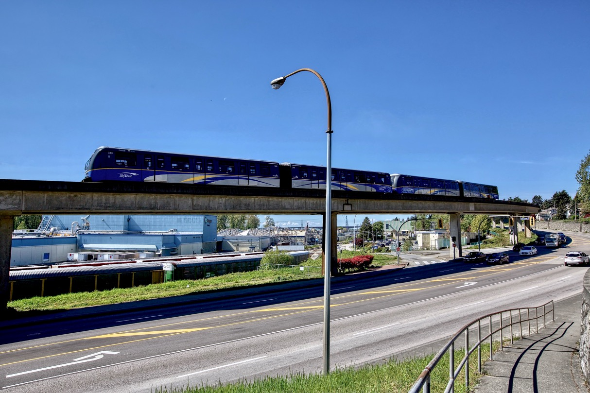 SkyTrain in New Westminster, B.C.