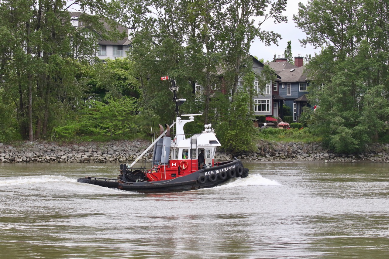 "Harken Towing tugboat ""KEN MACKENZIE"" in Fraser River"
