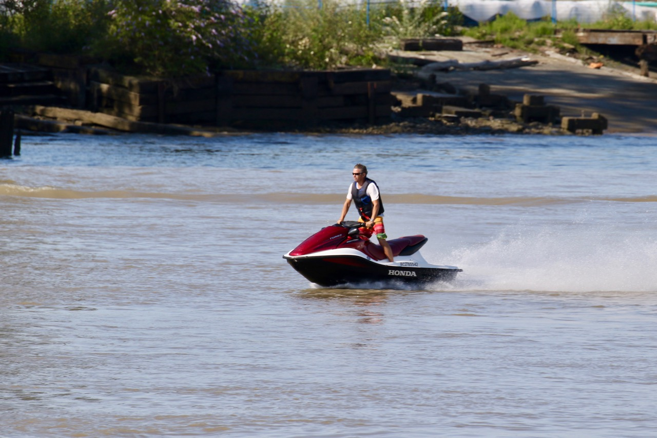 Personal watercraft in Fraser River