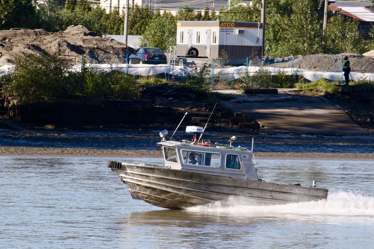 "Harken Towing passenger vessel ""GOR-LIN II"" in Fraser River"