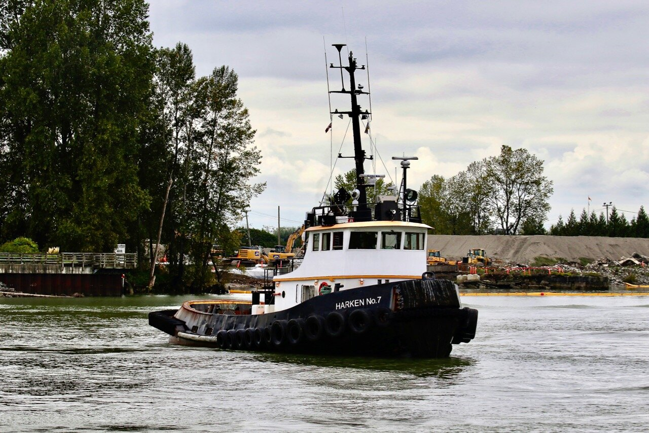 "Tugboat ""HARKEN No. 7"" in Fraser River"