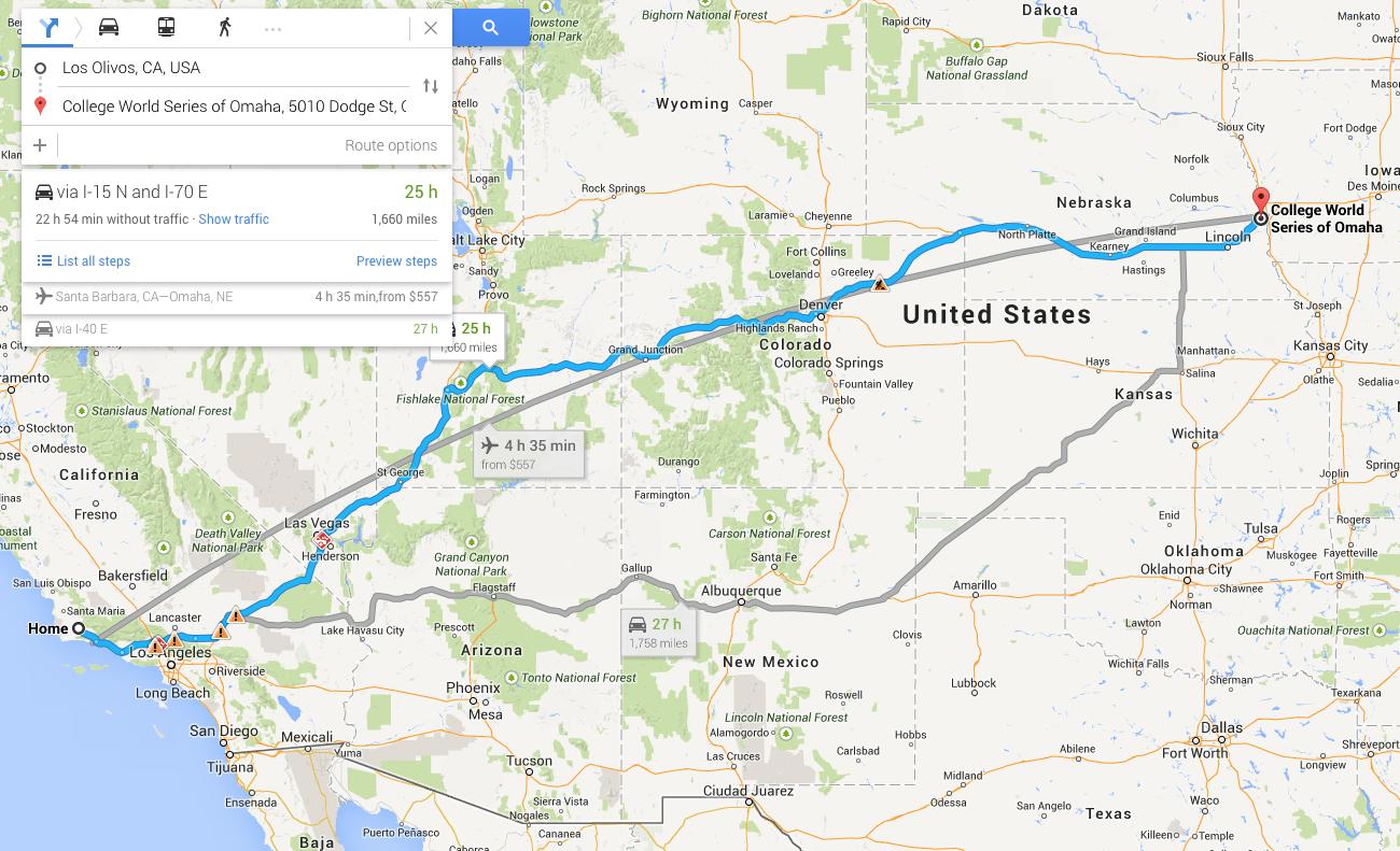 1660 Miles to Omaha