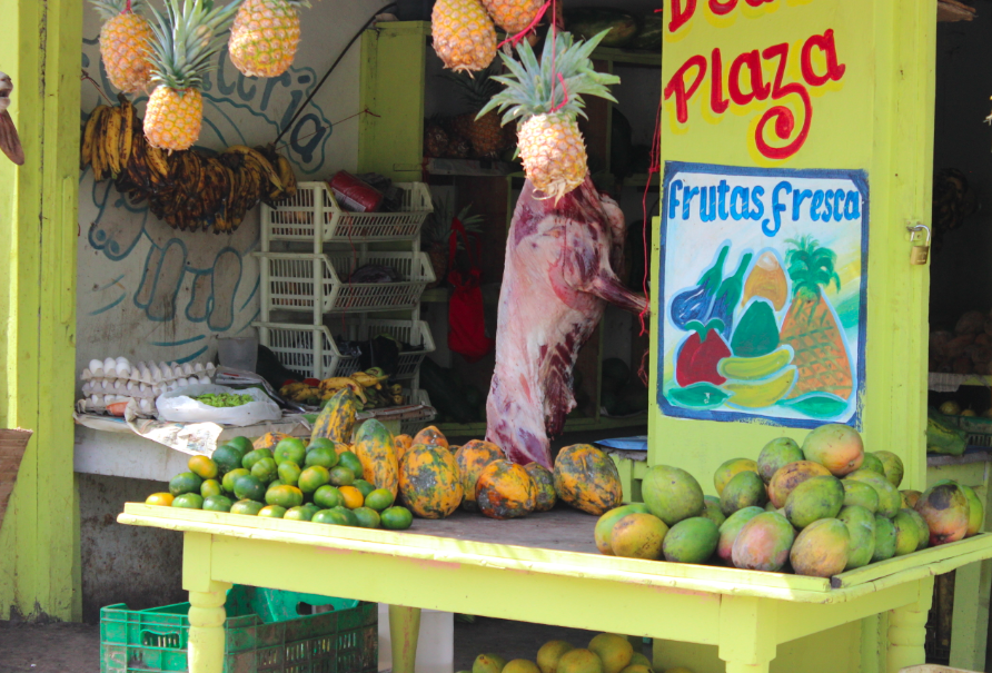 Check out the awesome roadside food stands on our drive