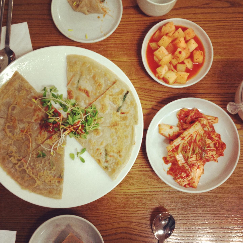Korean type pizza