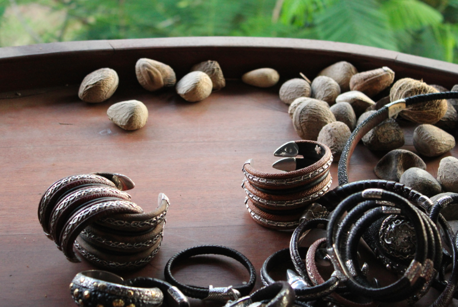 Bracelets & found seed pods
