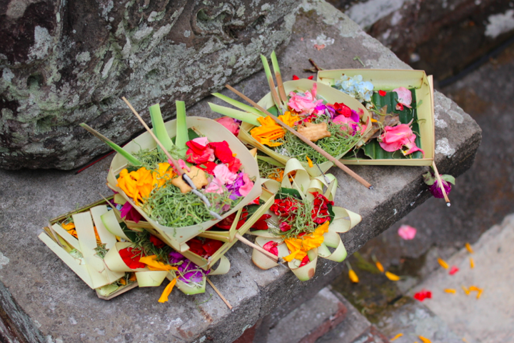 Offerings at a temple altar