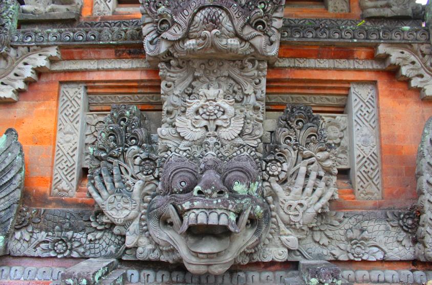 Temple detail, walking in Ubud