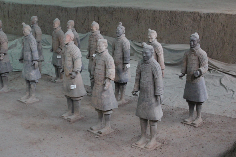 Soldiers most recently excavated and restored from pit 1