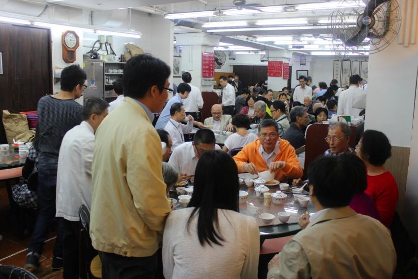 Inside the dim sum restaurant, Hong Kong