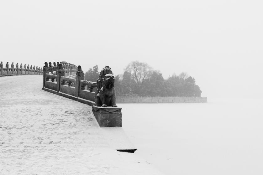 Snowfall at the Summer Palace, Beijing