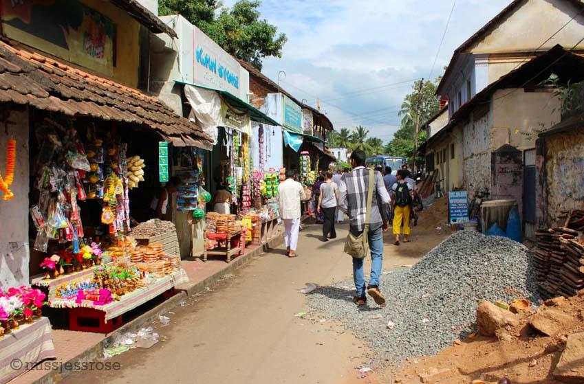 Walking the streets near Trivandrum, Kerala