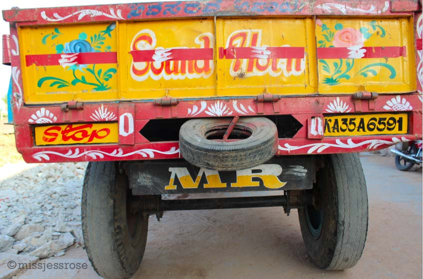 All Indian semi-trucks are beautifully hand-painted works of art