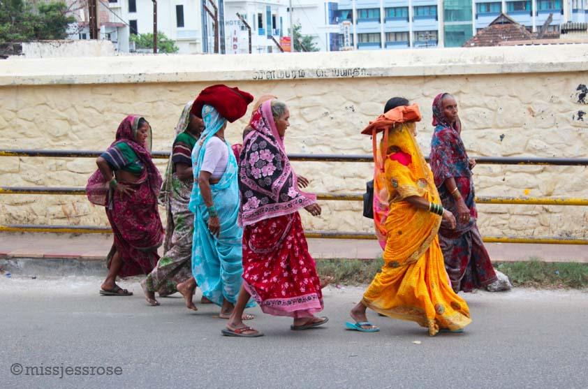 Walking near Kanyakumari, southern India